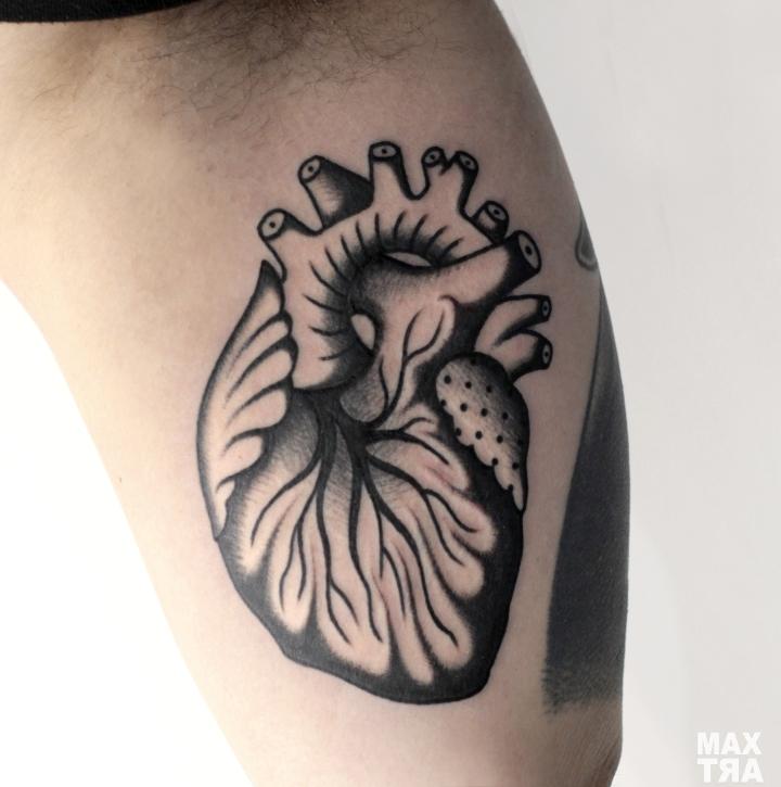 cuore anatomico black